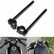 Café Racer Moto Guidon Racing Réglable CNC 31/32/33/35/36/37//39/41/45/48/50/51mm Clip Sur La Fourche Poignée Bar(China)
