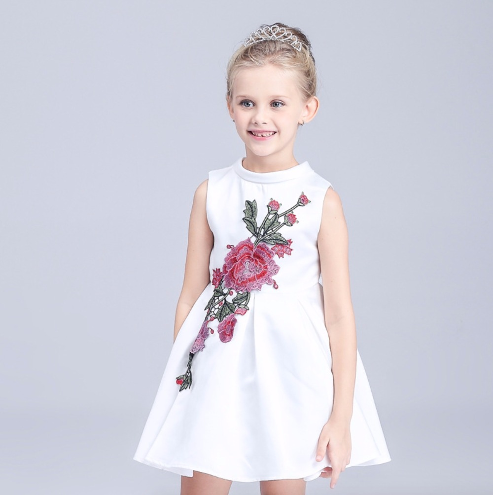 2017 summer new girls tutu dress embroidered dress embroidered princess dress stylish and comfortable<br><br>Aliexpress