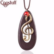 Wholesale vintage woman jewelry statement necklaces & pendants,long necklace Music Note women colar feminino collares Choker(China)