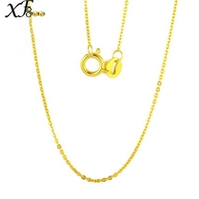 XF800 Genuine 18k Gold Necklace Fine Jewlery Real Au750 White Yellow Gold Chain Wedding Party Gift Romantic For women Girl D206(China)