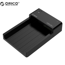 ORICO 6518US3 Super Speed USB 3.0 HDD Hard Drive & SSD Docking Station for 2.5 -inch & 3.5 - inch SATA Support 4TB HDD-Black(China)