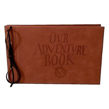 LINKEDWIN Debossed Our Adventure Book, Leatherette Covers with Genuine Leather Strip Bind(China)
