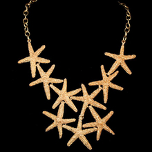 2016 Fashion Punk Starfish Shape Necklaces For Women Accessories Retro Classic Design From African Jewelry Modern Necklace