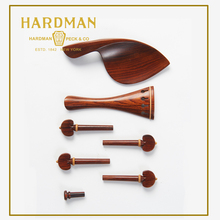Acoustic Solid Wood Violin Pegs Chinrest Tailpiece Endpin Polished Rosewood Fiddle 4/4 Violin Parts Accessories(China)