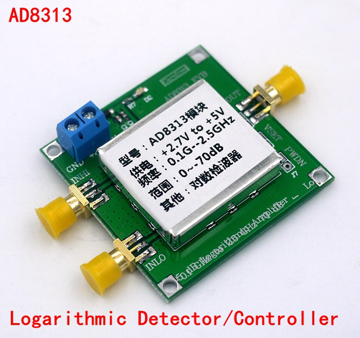0.1 GHz to 2.5 GHz and 70 dB logarithmic detector / controller AD8313<br>