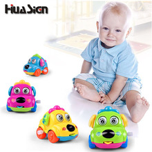 Baby Favorite Gift Cartoon Animal Dog Wind Up Toys Running Car Clockwork Classic Toy(China)