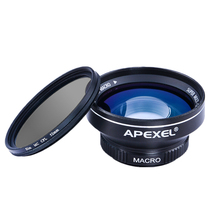 New100 degree 0.63x Super Wide Angle Lens 12.5x Super Macro Lens with CPL Filter High Definition for IOS android Smartphone