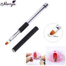Nail Art Acrylic Handle Flat Oblique Round Brush Kit Gel Polish Tips Extension Pen 3D Petal Flower French Lines Grid Drawing Pen(China)