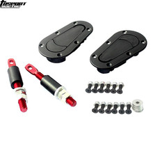 Universal coche de carreras Bonnet Plus de Hood registro Pin llave sin cerradura Kit(China)