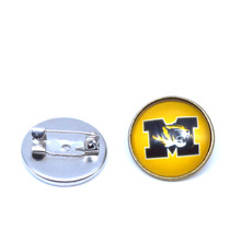 NCAA Charms Missouri Tigers Broochs For Women & Men Coat Pin Spider Brooch Fashion Jewelry 2017