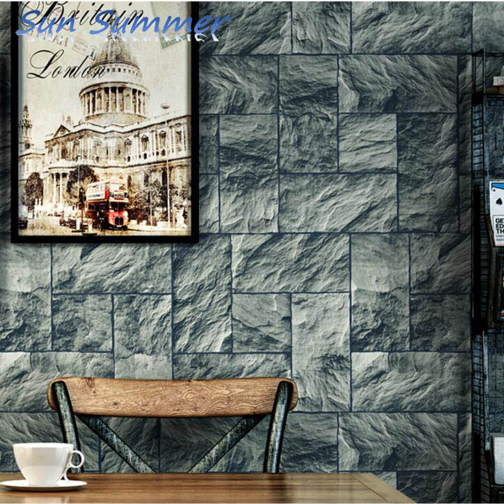 Marble mosaic designs non woven wallpapers whole living room wall decor paper <br>