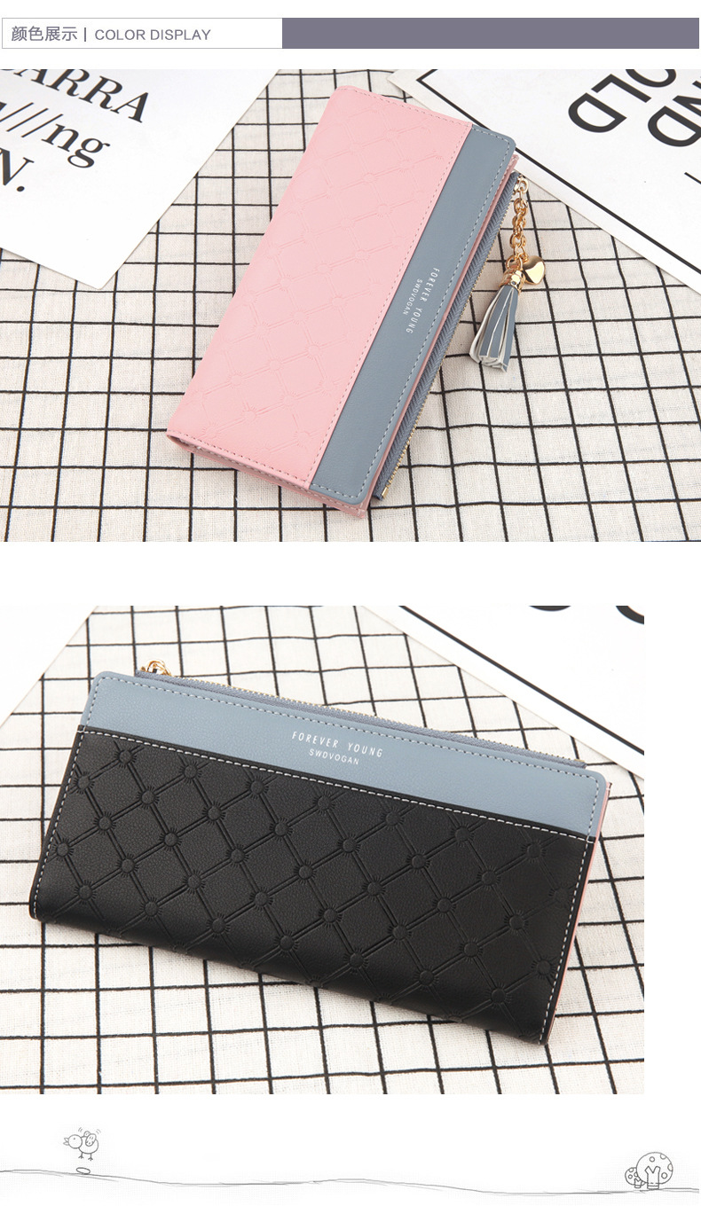 2018 Fashion Ladies Wallet Female Short Zipper Coin Purse Small Wallets Young Womens Tassel Hasp Purses Button Card Holder Pouch 103