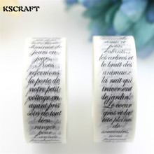 KSCRAFT 15mm*10m Adhesive Tape  for Scrapbooking DIY Craft Sticky Deco Masking Japanese Paper Washi Tape Words