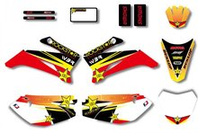 Rockstar New Style TEAM GRAPHICS&BACKGROUNDS DECAL STICKERS Kits For YAMAHA TTR110 DIRT pit bike (Yellow/Red)