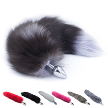 New Faux Fox Tail Anal Plug Stainless Steel Metal Anal Butt Plug Anal Plug Tail Anal Sex Toys For Women Adult Sex Products(China)