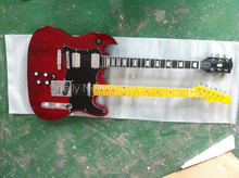 Shelly new store factory custom red SG double neck guitars ebony fingerboard 6 strings electric guitar musical instruments shop