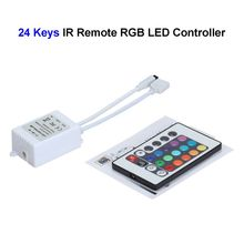 50pcs 12V 24 Keys Wireless RGB LED Controller With IR Remote Control For SMD 3528 5050 5730 5630 RGB LED Strip(China)