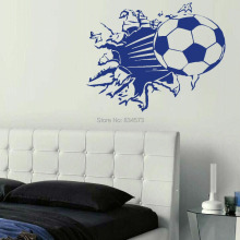 Soccer Ball Football Silhouette Wall Art Sticker Wall Decal Home DIY Decoration Decor Wall Mural Removable Bedroom Wall Stickers