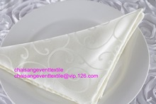 100pcs Quality Ivory Jacquard Damask Napkin 50x50cm For Wedding Event &Party Decoration(China)