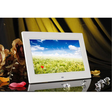 "10""inch HD 16:9 Digital Photo Frame Album Picture MP4 Movie Player Remote Control Plastic Frame 1024*600 LCD Display Art Decor"