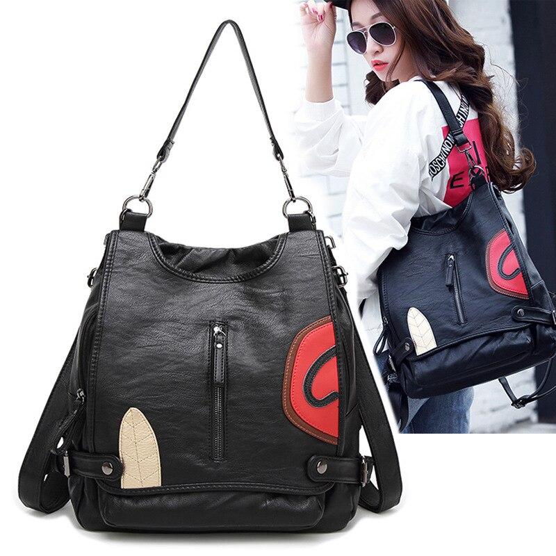 2017 new backpack Europe multifunctional backpack fine sheep schoolbag on behalf of a pattern<br>