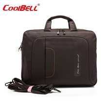 COOLBELL 15.6 Inch Waterproof Computer Laptop Notebook Tablet Bag Bags Case Black/Coffee/Pink Messenger Shoulder F Men Women-FF(China)