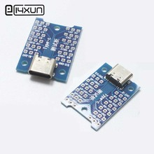 EClyxun 1pcs USB 3.1 Female Plug jack to DIP Adapter Connector Welded PCB Converter Pinboard(China)
