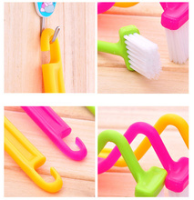 1Pc S Shape Toilet Cleaning Brush Portable Toilet Brush Scrubber S-type Cleaner Clean Brush Bent Bowl Handle