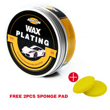 Car Polishing Paste Wax Scratch Repair Agent Paint Car Crystal Hard Wax Paint Care Waterproof Coating Wax With 2PCS Free Sponge