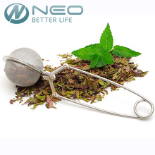 "NEO 5CM(2"") Diameter High Quality Convenient  Stainless Steel Handle Tea Mesh Ball Filter Stable Tea Strainer Strong Tea Infuser"