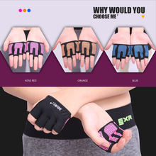 1 Pair Anti-skid Men & Women Dumbbell Weight Training Gym Gloves Body Building Exercise Training Sports Fitness Gloves Cross Fit(China)