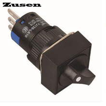 Zusen 16mm Square plastic selector switch 2 position LOCK 1NO1NC