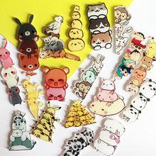 1PCS Free Shipping Kawaii Pikachu Pokemon Panda Badge Harajuku Acrylic Pin Badges Cartoon Backpack Pins Icons Costumes new Badge(China)