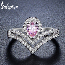 Iutopian Brand Luxurious Bridal Crown Rings Anels For Women With Top Quality Wiss CZ Top Quality Size 6,7,8,9 Gift #86848