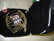 Wholesale Chinese Brand CTE 4 key double French Horn Golden One body with case   Free Shipping