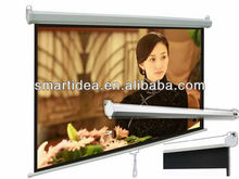 "Electric projection screen,Matt white portable motorized screen with remote control (4:3 100""inch) free shipping(China)"