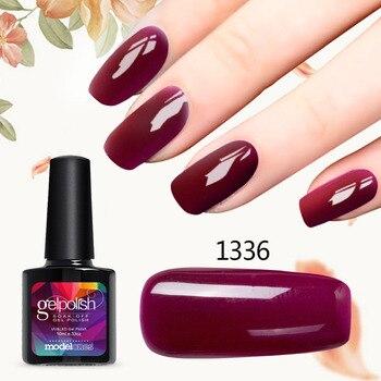 Modelones 10ML Gel Polish DIY Nail Art French Manicure Kit UV Nail Gel Polish Wine Red Color UV Nail Varnish Enamel