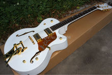 Wholesale custom guitar White Falcon Lacquer semi-Hollow Body center block Gretsch G6136 Electric Guitar With Bigsby jazz guitar