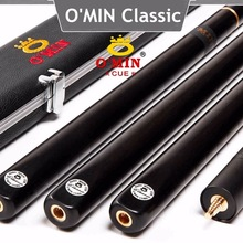 O'MIN Snooker Cue, Model Classic,High Level, 145cm Length, Cue Tip 10mm, 3/4 Jointed cues, Handmade Billiard Stick,Free Shippin