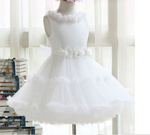 The princess Communion Dresses Flower Girl Dresses White tulle Girls For Birthday Pageant Party  royal child dresses