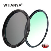 WTIANYA 55mm Multi-coated Circular Polarizer and MC UV Slim PRO Filter Kit for 55 mm Digital Cameras Lens(China)
