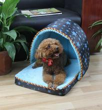 2018 New Arrival Dog Bed Soft Dog House Daily Products For Pets Cats Dogs Home Shape(China)