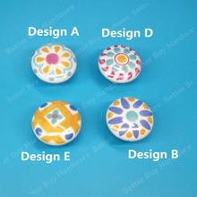 Ceramic knob handle Kitchen Furniture cabinet drawer pulls kids knob