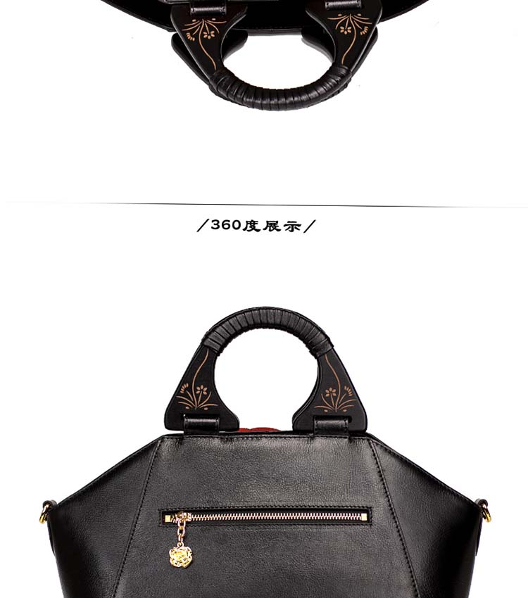 Bags Women Handbags 2018 New Style Chinese Handmade Cow Leather Shoulder Women Bag Genuine Leather Ladies Hand Bag