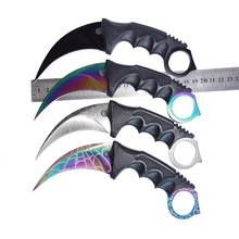 CS GO counter strike hawkbill tactical claw karambit neck knife real combat fight camp hike outdoor self defense offensive(Hong Kong)