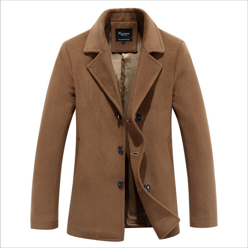 2017 High Quality Woolen Coat Male Blend Brand Men'S Coats Brand Clothing Men Wool And Blend Coat A2223