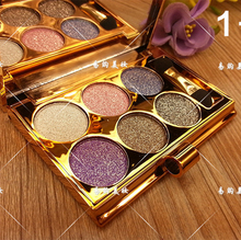 6 Colors Diamond Bright Eyeshadow Makeup Palette Naked Smoky Make Up Set Eye Shadow Professional Cosmetic With Brush Maquillage
