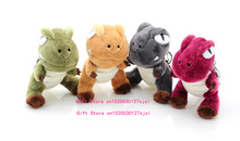 1PIECE Color Random , Super HOT 10CM Dinosaur Plush Toy , Gift Dragon Stuffed Toy Doll - Key Ring Chain Pendant Plush Toy(China)