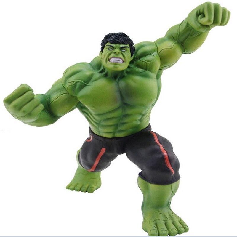 SAINTGI Avengers Action Figures Hot Toys Super Hero Marvels  Model Gifts Mjolnir  Garage Anime Movie Hulk  Juguetes 20cm<br>