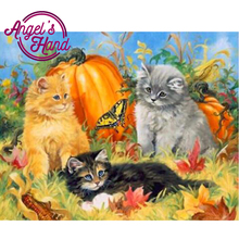 ANGEL'S HAND 5D DIY Diamond Embroidery Painting Cross Stitch Home Decoration Full Mosaic Crafts 3d Kit For Pumpkin Cat Butterfly(China)